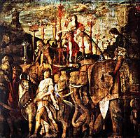 Trumpet players, 1506, mantegna
