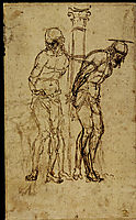 Two Studies for Christ at the Column, mantegna