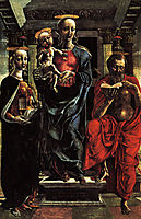 The Virgin and Child with Saints Jerome a, mantegna