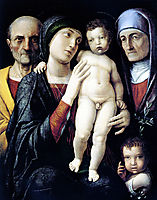 Virgin and Child with St. John the Baptist, St. Zachary and St. Elizabeth, mantegna