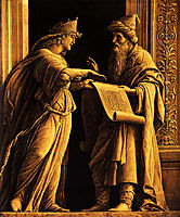 A sibyl and a prophet, mantegna