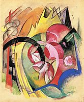 Coloful Flowers (Abstract Forms), c.1914, marcfrantz