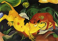 Cows, Yellow-Red-Green, 1912, marcfrantz