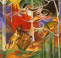 Deer in the Forest, 1913, marcfrantz
