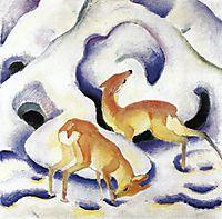 Deer in the Snow, 1911, marcfrantz