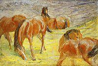 Grazing Horses, 1910, marcfrantz