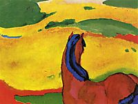 Horse in a landscape, 1910, marcfrantz