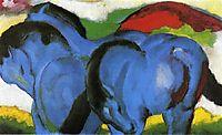 The Little Blue Horses, 1911, marcfrantz