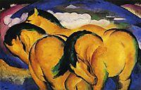 Little Yellow Horses, 1912, marcfrantz