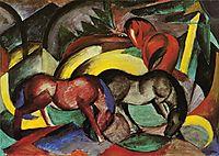 Three Horses, 1912, marcfrantz