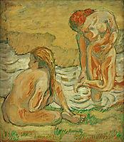 Two bathing girls, 1909, marcfrantz