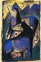 Two Blue Horses, 1913, marcfrantz