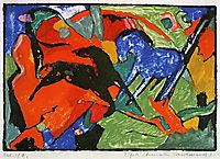 Two Horses, 1912, marcfrantz