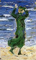 Woman in the Wind by the Sea, 1907, marcfrantz