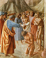 Baptism of the Neophytes, 1427, masaccio