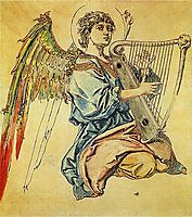 Angel with harp, matejko