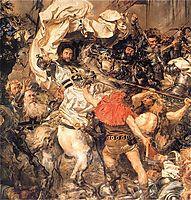 Battle of Grunwald, the death of the Grand Master Ulrich von Jungingen (detail), matejko
