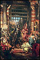 Boleslaw the Brave with Sviatopolk at the Golden Gate in Kiev, matejko
