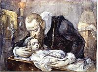 Jan Kochanowski over the dead body of his daughter, 1862, matejko