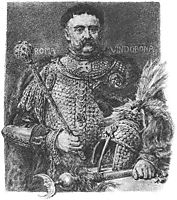 Jan Sobieski, portraited in a parade scale armour, matejko
