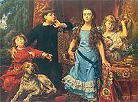 Portrait of the artist`s four children, 1879, matejko