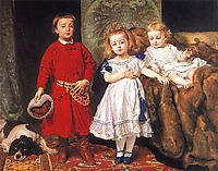 Portrait of three children, matejko