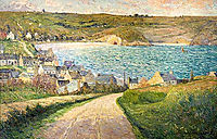 The Beach at Morgat, maufra