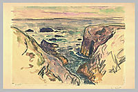 Belle-Ile-en-Mer, Evening, Cote Sauvage, 1909, maufra