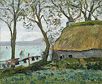 A cottage with thatched roof in Douarnenez, 1898, maufra