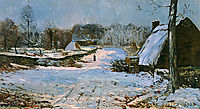 Cottages in the Snow, 1891, maufra
