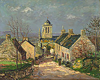 The descending street at Locronan, 1906, maufra
