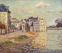 The Embankment of Lagny under Flood Water, 1908, maufra