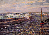 The Jetty at Pontivy, 1909, maufra