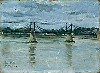 The old bridge in Ancenis, 1884, maufra