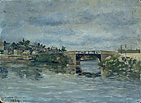 The old Bridge in Barbin, 1884, maufra
