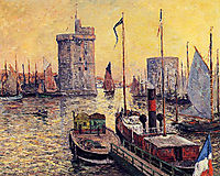 The Port of La Rochelle at Twilight, 1911, maufra