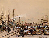 Quayside in Le Havre, 1905, maufra