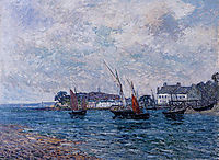 Reentering Port at Douarnenez (Finistere), 1906, maufra
