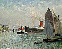 The Transatlantic leaving Port, 1905, maufra