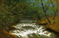 Burring Brook with Bridge, mednyanszky