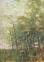 Edge of a Forest with Crosses, 1918, mednyanszky