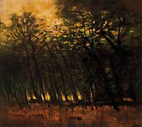 Fires in the Forest, 1910, mednyanszky
