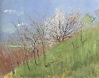 Hildside at Springtime (Little Landscape), 1904, mednyanszky