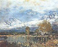 Lake in the Mountains, 1899, mednyanszky