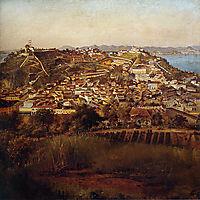Estudo para Panorama do Rio de Janeiro, 1885, meirelles