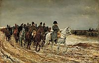 1814. Campagne de France (Napoleon and his staff returning from Soissons after the Battle of Laon), 1864, meissonier