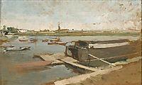 Bords de la Seine à Poissy, 1889, meissonier