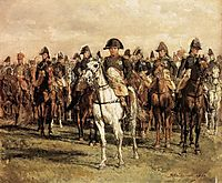 Napoleon and his Staff, 1868, meissonier