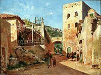 Street Scene near Antibes, meissonier