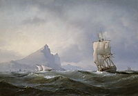 Sailing ship off Gibraltar, 1851, melbye